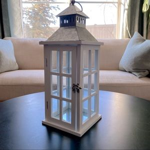 "Ashland 15"" tall galvanized lantern from Michaels"